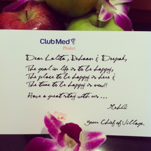A welcome note from Mehdi, the chief daddy of the resort