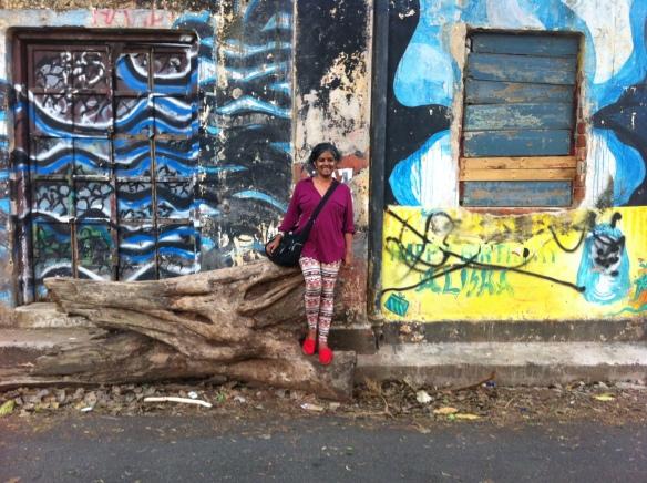 Graffiti in Fort Kochi during the Biennale